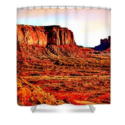 Monument Valley Sunset By Bob Johnston Shower Curtain by Bob and Nadine Johnston