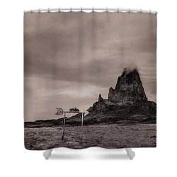 Monumental Towing Shower Curtain by William Fields