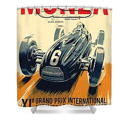 Monza Grand Prix Shower Curtain