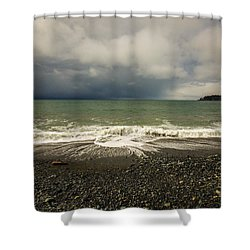 Moody Swirl French Beach Shower Curtain