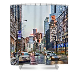 Moody Afternoon In New York City Shower Curtain by Jeffrey Friedkin