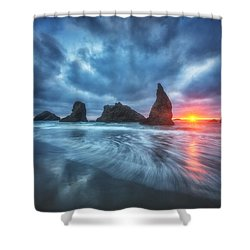 Moody Blues Of Oregon Shower Curtain by Darren  White