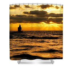 Moody Morning Shower Curtain by Bill Pevlor