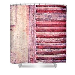 Moody Weathered Shutter Shower Curtain by Silvia Ganora