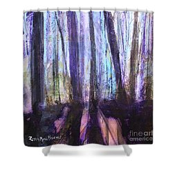 Moody Woods Shower Curtain by Robin Maria Pedrero