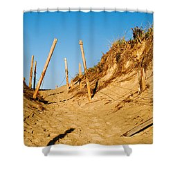Moon And Dunes Shower Curtain