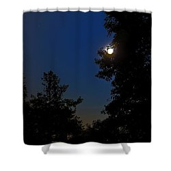 Shower Curtain featuring the photograph Moon And Pegasus by Greg Reed
