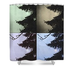 Shower Curtain featuring the photograph Moon And Tree by Photographic Arts And Design Studio