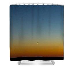 Moon And Venus I Shower Curtain