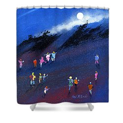 Moon Beam Search Shower Curtain by Neil McBride
