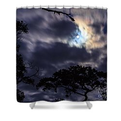 Moon Break Shower Curtain