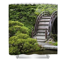 Moon Bridge - Japanese Tea Garden Shower Curtain