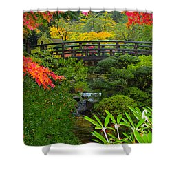 Moon Bridge To Enchantment Shower Curtain