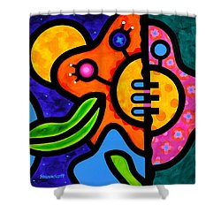 Moon Flower Shower Curtain