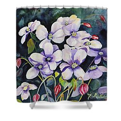 Moon Flowers Shower Curtain