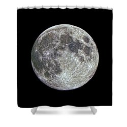 Shower Curtain featuring the photograph Moon Hdr by Greg Reed