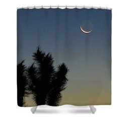 Shower Curtain featuring the photograph Moon Kissed by Angela J Wright