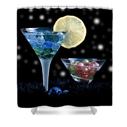 Moon Light Cocktail Lemon Flavour With Stars 1 Shower Curtain