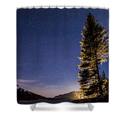 Moon Light Over Tenaya Lake Shower Curtain by Cat Connor