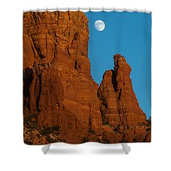 Moon Over Chicken Point Shower Curtain
