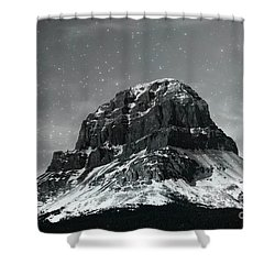 Moon Over Crowsnest Shower Curtain by Alyce Taylor
