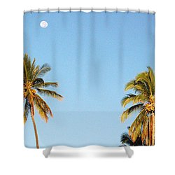 Moon Over Molokai Shower Curtain