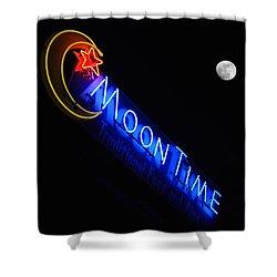 Moon Over Moon Time Shower Curtain