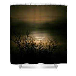 Moon Over Prince George Shower Curtain by Karen Harrison