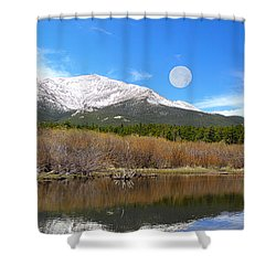 Moon Over St. Malo Shower Curtain by Shane Bechler