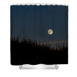 Moon Over The Dunes Shower Curtain
