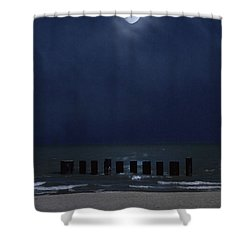 Moon Over Waters Shower Curtain by Margie Hurwich