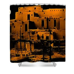 Moon Rise At The Pueblo Shower Curtain