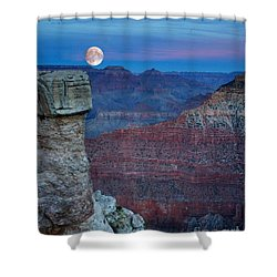 Moon Rise Grand Canyon Shower Curtain