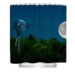 Moon Risen Shower Curtain by Randy Pollard