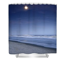 Moon Rising Over Hilton Head Shower Curtain by Phill Doherty