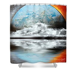 Moon River Shower Curtain by Greg Moores