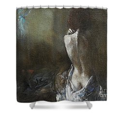 Moon Shadows Shower Curtain
