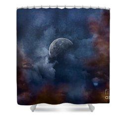 Moon Shine Shower Curtain by Andrea Kollo