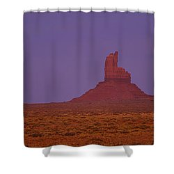 Moon Shining Over Rock Formations Shower Curtain by Panoramic Images