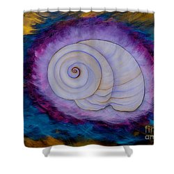 Shower Curtain featuring the painting Moon Snail by Deborha Kerr