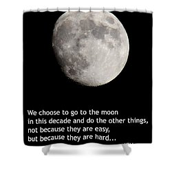 Moon Speech Shower Curtain