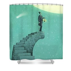 Moon Steps Shower Curtain