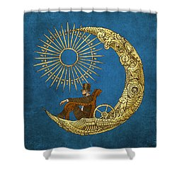 Moon Travel Shower Curtain by Eric Fan