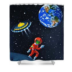 Moon Walk Shower Curtain