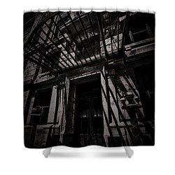 Moonin Munster Manor Shower Curtain by Robert McCubbin