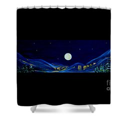 Moonlight 2013. Inspirations Collection Shower Curtain by Oksana Semenchenko