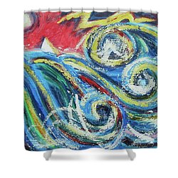 Moonlight And Chaos Shower Curtain by Diane Pape