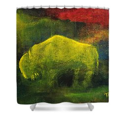 Moonlight Buffalo Shower Curtain