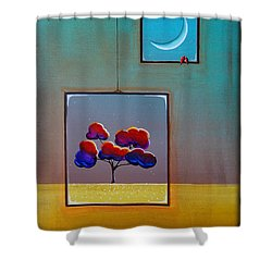 Moonlight Shower Curtain by Cindy Thornton