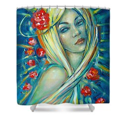 Moonlight Flowers 030311 Shower Curtain